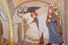 Religious christian mosaics in Ta Pinu, Malta Stock Images