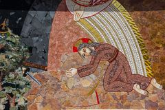 Religious christian mosaics in Ta Pinu, Malta Stock Photography