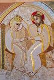 Religious christian mosaics in Ta Pinu, Malta Stock Photo