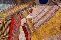 Religious christian mosaics in Ta Pinu, Malta Royalty Free Stock Images