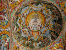 Religious christian painting in the church Stock Images
