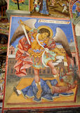 Religious christian painting on the church wall Stock Photography