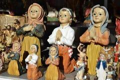 Religious christian praying statues Royalty Free Stock Photo