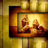 Religious Christmas Cards Nativiy Scene Royalty Free Stock Photos