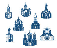 Religious churches and temples Royalty Free Stock Photography