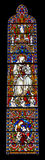 Religious colorful stained glass window Royalty Free Stock Photography