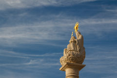 Religious column in the historic centre of Beckov Royalty Free Stock Photography