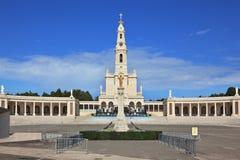 The religious complex Portuguese town of Fatima stock image