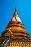 The religious complex What That. Colorful stupa.Khon Kaen.Thailand. Stock Photography