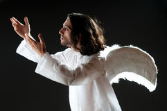 Religious concept with angel Stock Images
