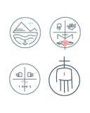 Religious contemporary minimal symbols Royalty Free Stock Image
