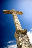 Religious Cross. Religious Stone Cross in Portugal royalty free stock photography