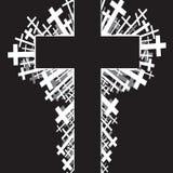 Religious cross background Royalty Free Stock Photos