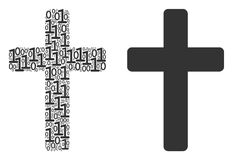 Religious Cross Composition of Binary Digits royalty free illustration