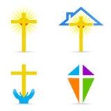 Religious cross design. Illustration of religious cross design isolated on white background Stock Photo