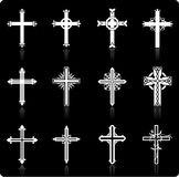 Religious cross design collection Royalty Free Stock Photos