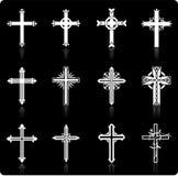 Religious cross design collection Royalty Free Stock Photos