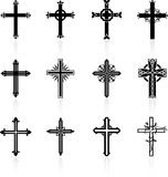 Religious cross design collection Royalty Free Stock Photography