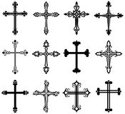 Religious Cross Design Collection Royalty Free Stock Image