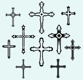 Religious Cross Design Collection Stock Photos