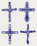 Religious cross design collection Stock Images