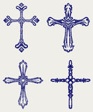Religious cross design collection Stock Image