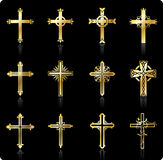 Religious cross design collection Stock Photo