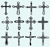 Religious cross design collection Stock Photography