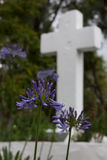 Religious Cross with Flowers Royalty Free Stock Photography