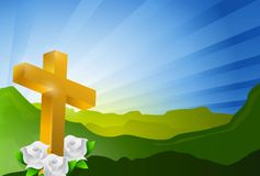 Religious cross heaven landscape Stock Photography