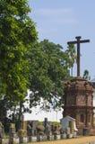Religious Cross near Saint Ekaterinas cathedral Royalty Free Stock Photo