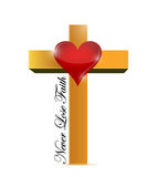 Religious cross. never lose faith message Royalty Free Stock Photography