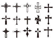 Religious cross symbol set Stock Image