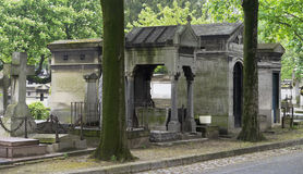 Religious crypts and monuments in european graveyard Stock Images