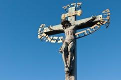 Religious detail of Charles\' Bridge Stock Image