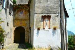 Religious devotion at Monteggiori, Camaiore. Stock Image