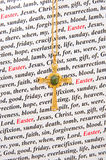 A religious Easter card. Royalty Free Stock Images
