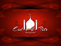 Religious Eid Al Fitr Mubarak background design. Royalty Free Stock Photo