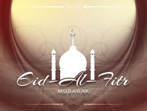 Religious Eid Al Fitr mubarak background design. Stock Image