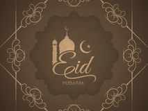 Religious elegant Eid Mubarak card design. Religious Eid Mubarak vector background design Stock Photo