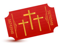 Religious event ticket illustration Stock Images