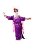 Religious exorcism folklore. Hispanic religious catholic christian folklore dance resembling god doing an exorcism, isolated Royalty Free Stock Photo