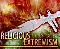 Religious extremism Abstract concept digital illustration. Abstract background digital collage concept illustration religious extremism terrorism Stock Images