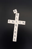 Religious Faith. Words In A Cross Formation stock photography