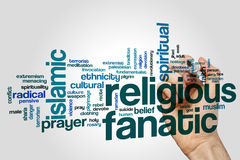 Religious fanatic word cloud Royalty Free Stock Image