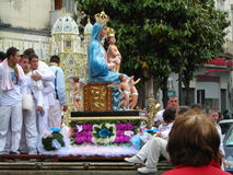 Religious feast of battenti in south italy. Campania monday  of Easter Stock Photo