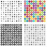 100 religious festival icons set vector variant. 100 religious festival icons set vector in 4 variant for any web design isolated on white Royalty Free Stock Image