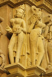 Religious Figures At Khajuraho Stock Images