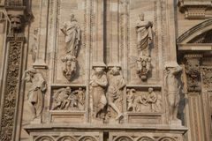 Religious Figures, Milan Royalty Free Stock Photography