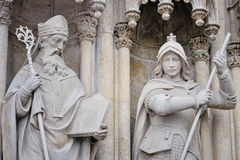 Religious figures of Zagreb Cathedral Royalty Free Stock Photography